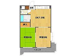 稲野駅前やのビル[3階]の間取り