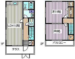 [テラスハウス] 埼玉県さいたま市南区曲本1丁目 の賃貸【/】の間取り