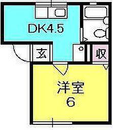 ソファレ夙川[102号室]の間取り