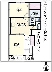 インフィニティ A棟[1階]の間取り