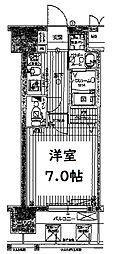 エグゼ難波西IV 11階1Kの間取り