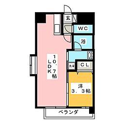 ピュア京橋[5階]の間取り