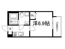 京都市営烏丸線 竹田駅 徒歩12分の賃貸アパート