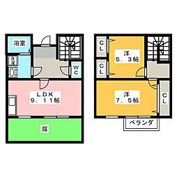 [テラスハウス] 愛知県大府市中央町1丁目 の賃貸【愛知県 / 大府市】の間取り