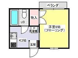 ベルシオンカーサ[2階]の間取り