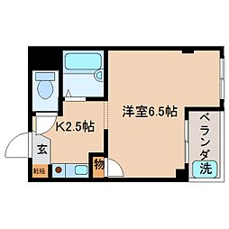 奈良県奈良市西包永町の賃貸マンションの間取り