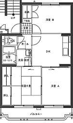 ジェネシス大島B棟[3階]の間取り