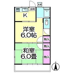 坂田コーポ[105号室]の間取り