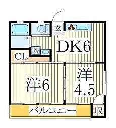 TKRビル[2階]の間取り