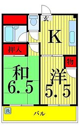 伊藤コーポ[501号室]の間取り