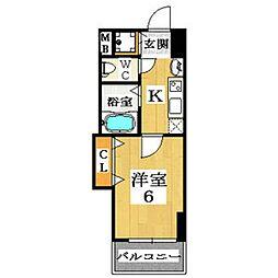Luxe布施(ラグゼ布施)[5階]の間取り