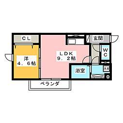 仮)岐阜市加納アパート[1階]の間取り