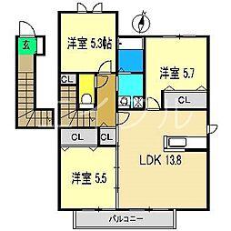 シャーメゾン・ブラン[2階]の間取り
