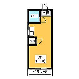 幸川マンション南館[5階]の間取り