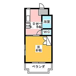 マンションモンマルトル[1階]の間取り
