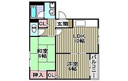 サンライズ加茂壱番館[306号室]の間取り