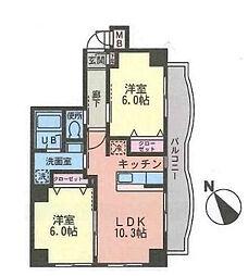 神奈川県海老名市下今泉1丁目の賃貸マンションの間取り