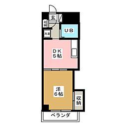 キャッスル北沢[5階]の間取り