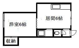 北海道札幌市清田区清田二条2丁目の賃貸アパートの間取り