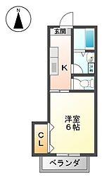 愛知県名古屋市東区赤塚町の賃貸マンションの間取り