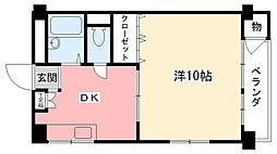 新甲子園マンション[311号室]の間取り