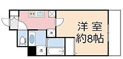 ラ・ヴィラ阿倍野 3階1Kの間取り