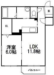 パールヒル 8[3階]の間取り