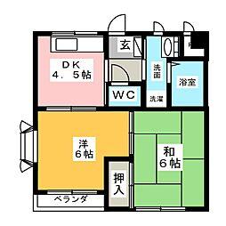 愛知県名古屋市中村区中村町4丁目の賃貸マンションの間取り