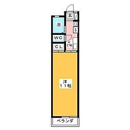 赤城ハイツC[1階]の間取り