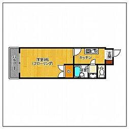 セラフィン西新南[5階]の間取り