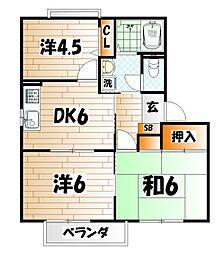 フォーレスト青葉[2階]の間取り