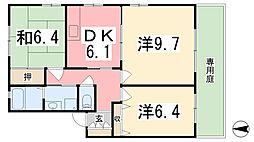 クレスコGC[1階]の間取り