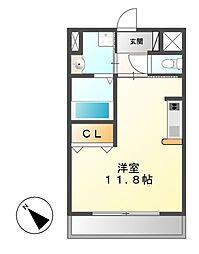 Avannti YASHIRODAI[1階]の間取り