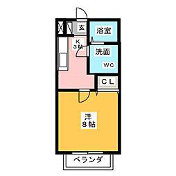 メゾーネII[1階]の間取り