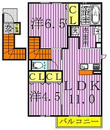 ピュアコートI[2階]の間取り