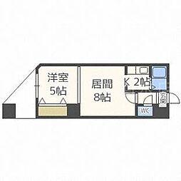 パークヒルズ東札幌[1階]の間取り