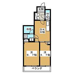 ティモーネプレミアム押上イースト 3階2DKの間取り