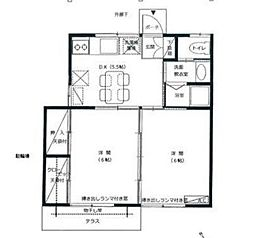 神奈川県相模原市中央区矢部1丁目の賃貸アパートの間取り