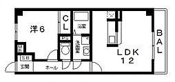 グレイスコート[203号室号室]の間取り