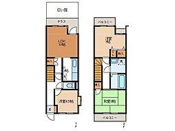 [テラスハウス] 東京都町田市玉川学園3丁目 の賃貸【/】の間取り