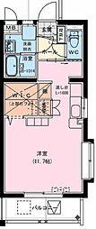 (仮)神宮東2丁目マンション 4階ワンルームの間取り