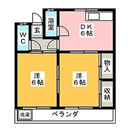 コーポサクマ[1階]の間取り