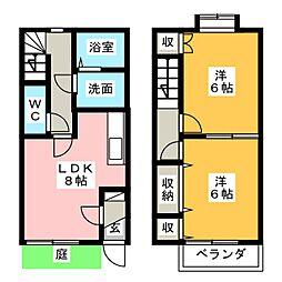 [テラスハウス] 静岡県富士市南松野 の賃貸【静岡県 / 富士市】の間取り