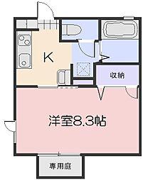 メゾン・セティIII棟[2階]の間取り