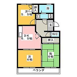 ラフォーレ西沢[1階]の間取り