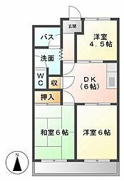 コスモハイツI[203号室]の間取り