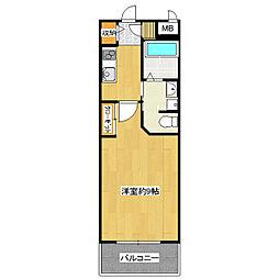 グランインカム16[1階]の間取り