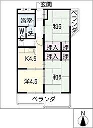 みゆきハイツA棟[2階]の間取り