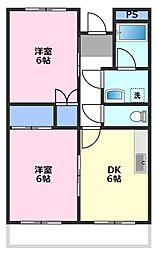 メゾン高沢[1階]の間取り