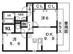 ラ・ミュー久宝寺 III棟[103号室号室]の間取り